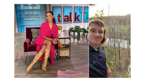 The Talk co-host Elaine Welteroth and Country singer Morgan Wallen
