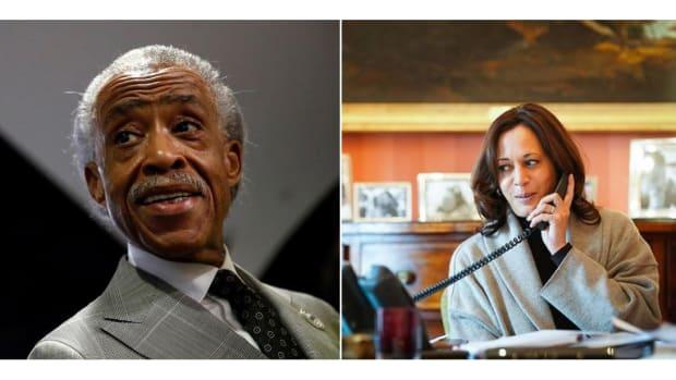 Rev. Al Sharpton and Vice President Kamala Harris