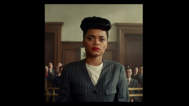 Andra Day as Billie Holiday in The United States vs. Billie Holiday