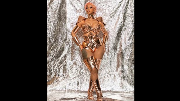 Cardi B's performance look for the 2021 Grammy Awards