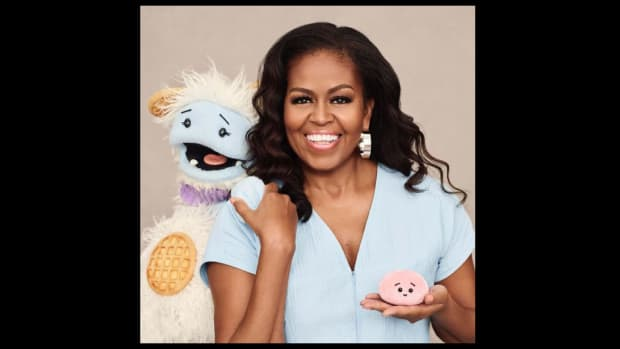 Michelle Obama with Waffles and Mochi