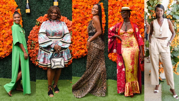 Gabrielle Union, Retta, Keke Palmer, Jodie Turner-Smith, and Duckie Thot at the 2021 Veuve Clicquot Polo Classic