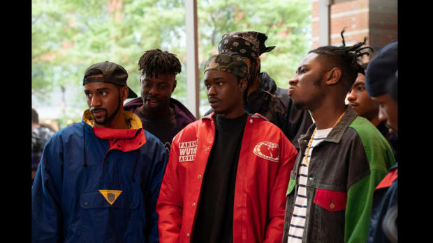 """Wu-Tang: An American Saga -- """"As High as Wu-Tang Gets"""" - Episode 210 -- The Clan makes big moves for Wu domination. Dennis (Siddiq Saunderson), Gary (Johnell Young), Bobby (Ashton Sanders), Ason (TJ Atoms), and U-God (Damani D. Sease), shown."""
