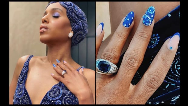 Kerry Washington mermaid manicure