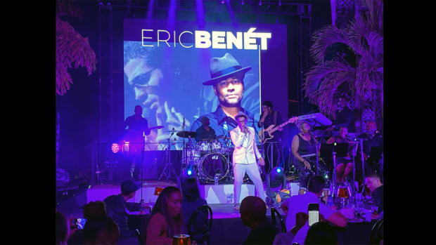 "Eric Benét performs at ""From BeBop 2 HipHop"""