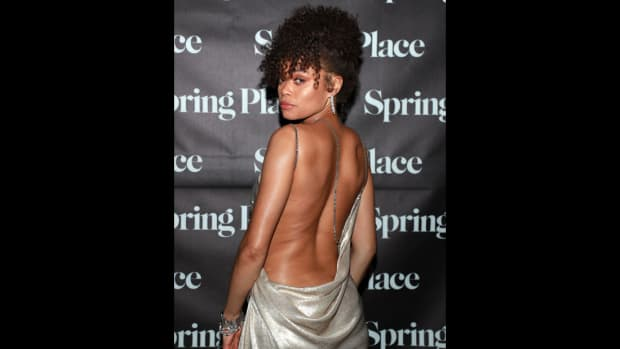Andra Day attends an Oscars soiree thrown in her honor at Spring Place LA.