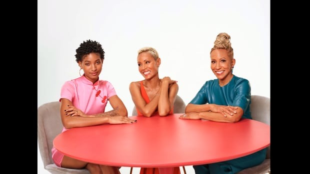 Red Table Talk's Willow Smith, Jada Pinkett Smith, and Adrienne Banfield-Norris