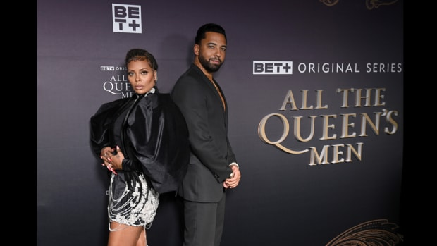 Eva Marcille and Christian Keyes attend the All the Queen's Men premiere
