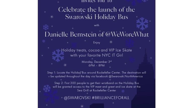You Gotta Catch the Swarovski Holiday Bus, But Where's It Going?
