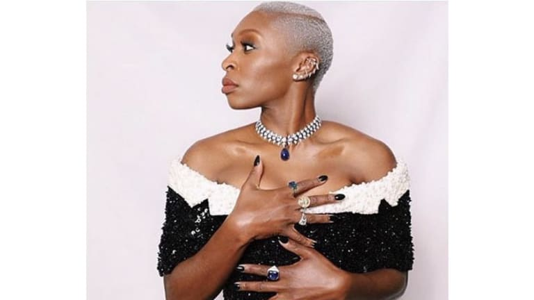 Get the Look: Cynthia Erivo's Chrome Pixie for the Golden Globes