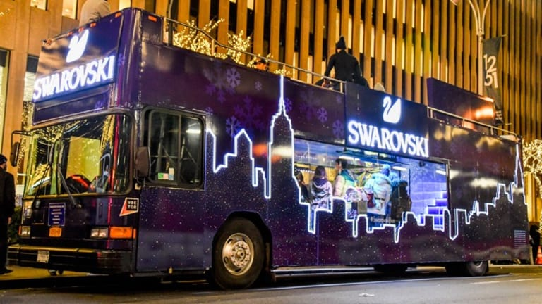 The Swarovski Holiday Bus Launched at NYC's Rockefeller Center
