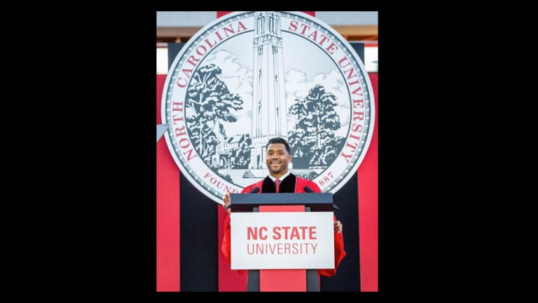 Russell Wilson Delivers Commencement Speech for NC State [VIDEO]