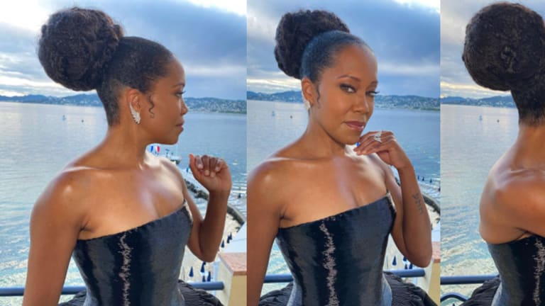 Get the Look: Regina King's Rope Braided Bun Styled by Lacy Redway
