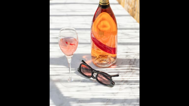 G.H. Mumm Champagne and Le Specs Put a Rosé-ier Spin on Sunglasses