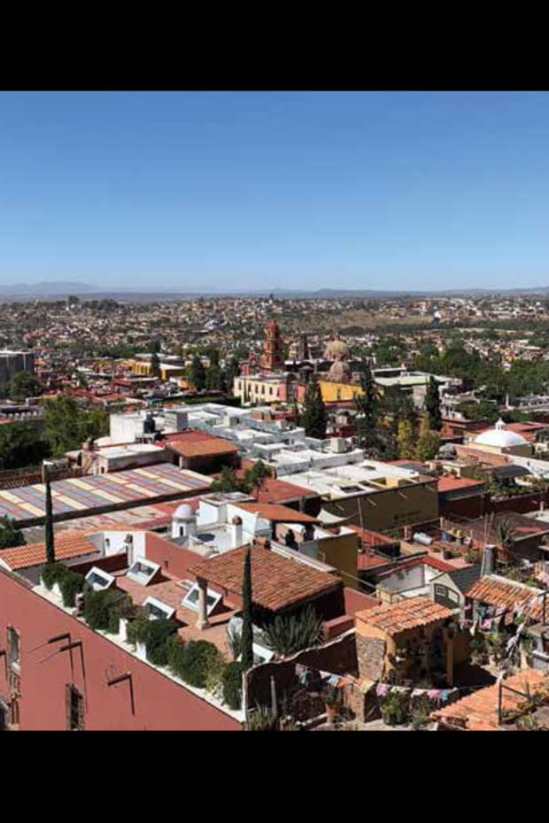 Aerial view of San Miguel de Allende, Mexico