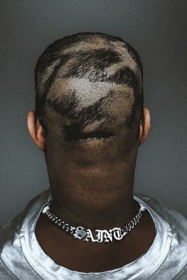 Kanye West patchy haircut