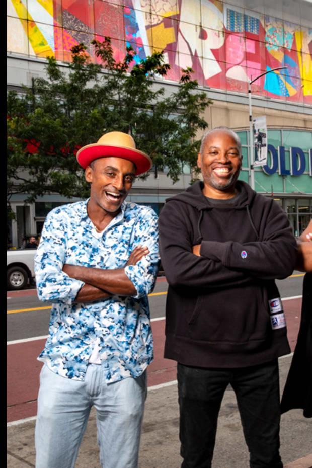 "Marcus Samuelsson, Cey Adams, and Dianne Smith for Bombay Bramble's ""Stir Creativity"""