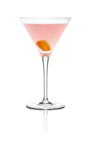 Ingredients:2 oz Grey Goose L'Orange Flavored Vodka¾ oz Triple Sec¾ oz Cranberry Juice¼ oz Fresh Lime JuiceGarnish: orange TwistGlass: MartiniDirections: Combine first four ingredients in order listed into a cocktail shaker with ice. Shake and strain into a chilled martini glass. Garnish with orange twist.