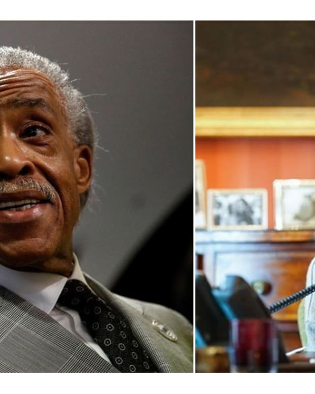 Rev. Al Sharpton and Vice President Kamala Harris