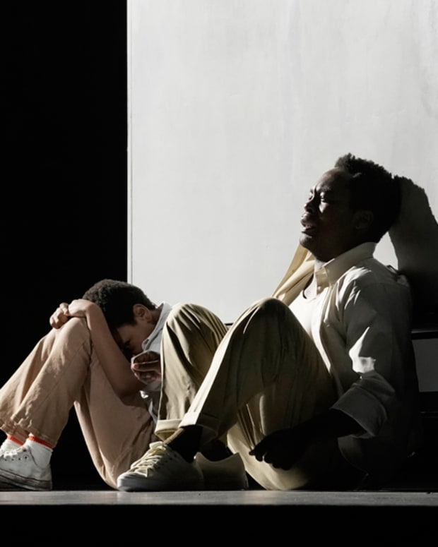 Walter Russell III as Char'es-Baby and Will Liverman as Charles in Terence Blanchard's Fire Shut Up in My Bones.