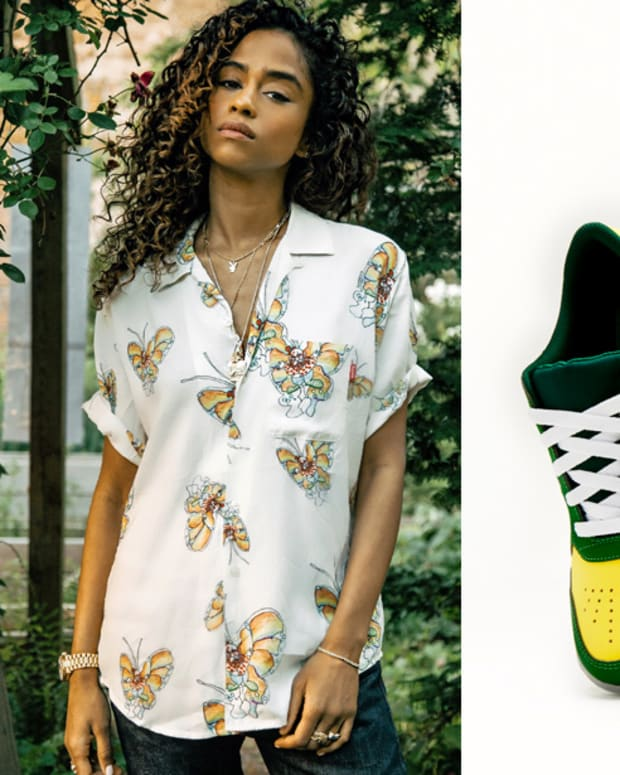 Vashtie Kola and Pine-Sole sneakers