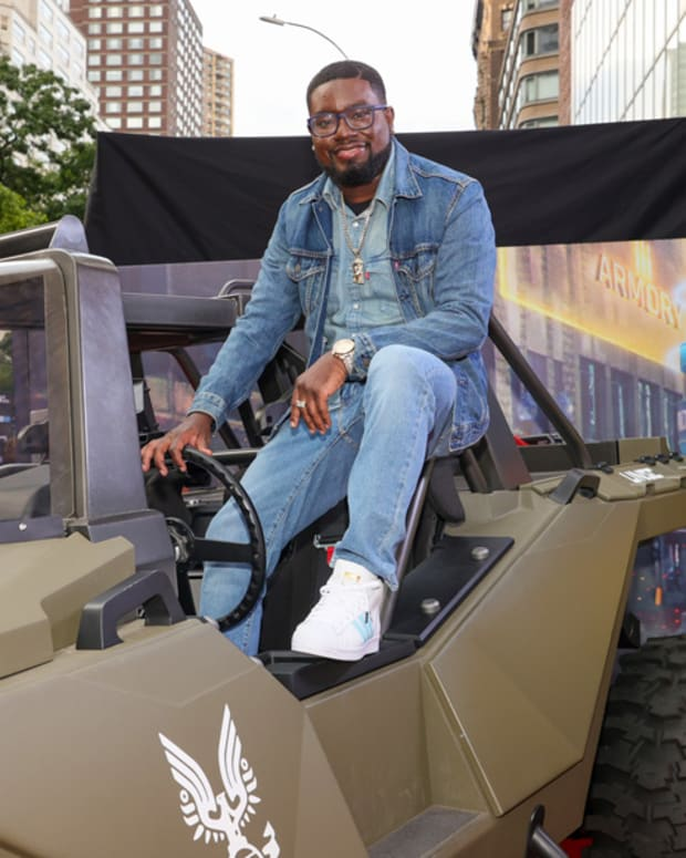 Lil Rel Howery attends the World Premiere of 20th Century Studios' Free Guy on August 3, 2021 in New York City.