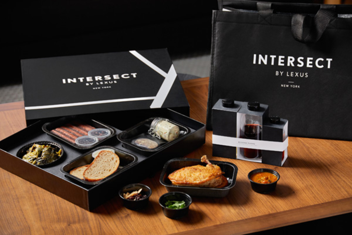 INTERSECT BY LEXUS keepsake box and comes in a reusable insulated tote bag