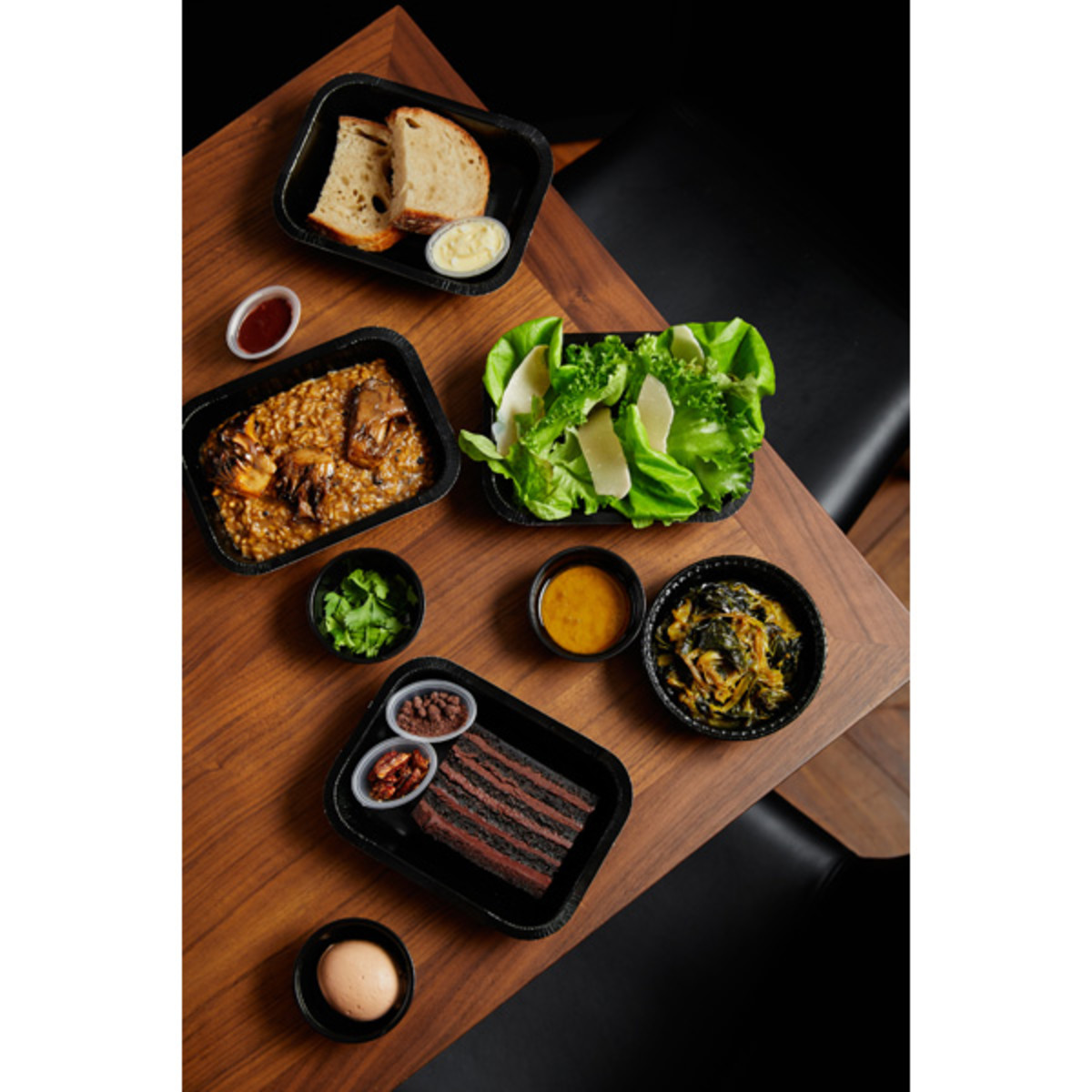 A vegetarian option from the INTERSECT BY LEXUS - NYC dine-away/delivery program