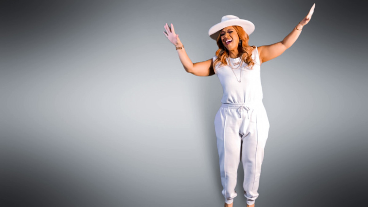 Erica Campbell performs during the 22nd Annual Super Bowl Gospel Celebration.