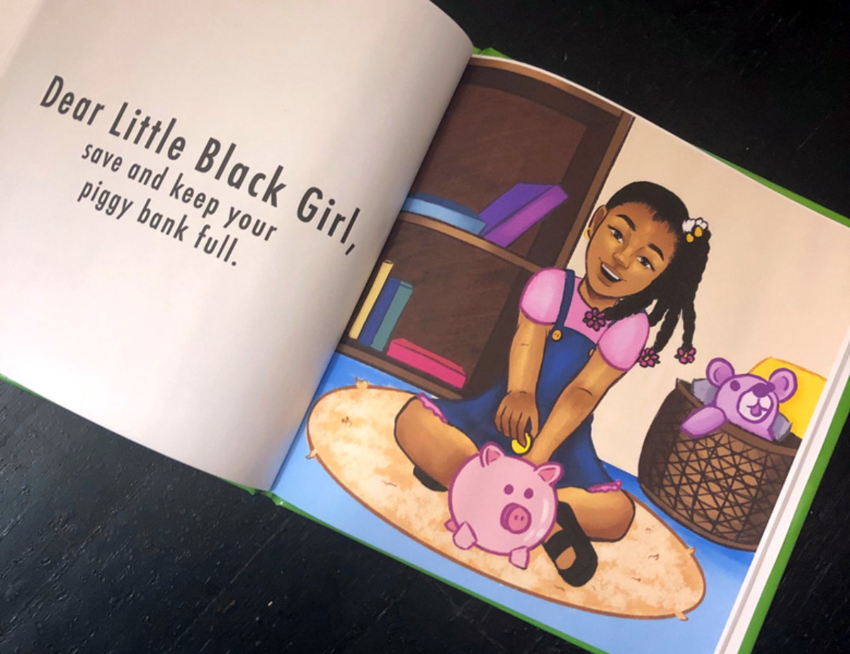An affirmation from Dear Little Black Girl by Christina Wilds (Hammond)