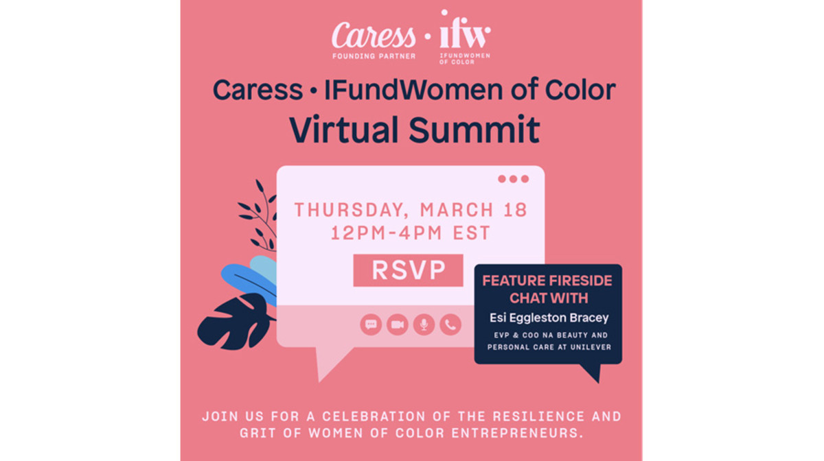 Invitation for the Caress and IFundWomen of Color Virtual Summit
