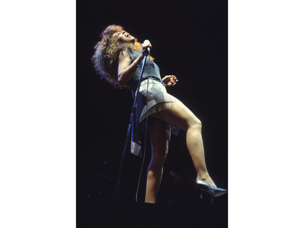 Tina Turner in concert in Versailles, France in 1990