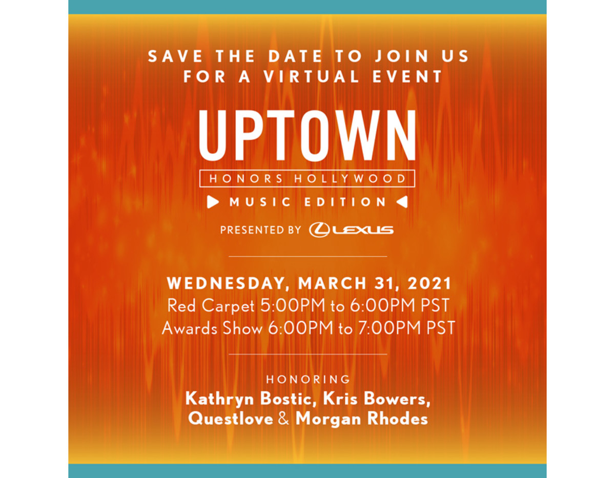 UPTOWN HONORS HOLLYWOOD: Music Edition save-the-date
