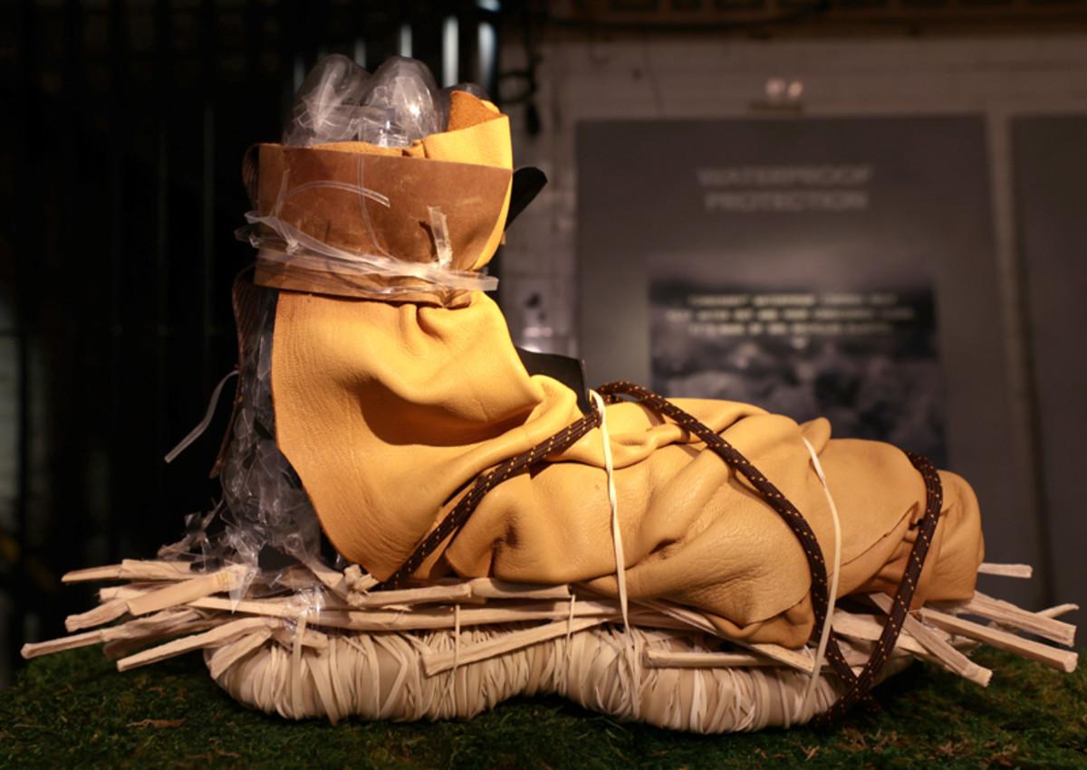 An exclusive deconstructed boot sculpture