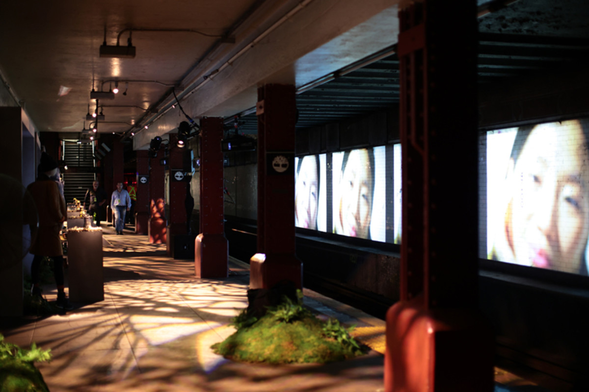 Timberland launched the FW21 GreenStride collection of shoes in a decommissioned subway station.