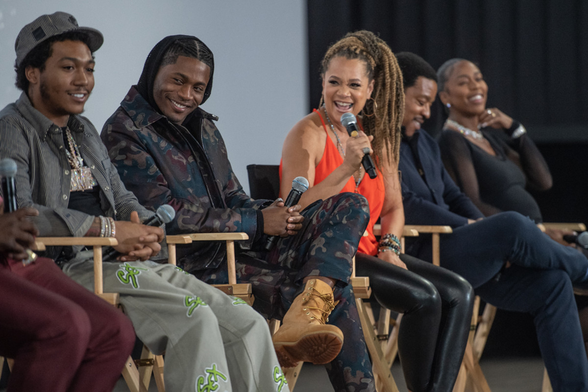 The cast of BMF participate in a Q&A following a screening of the STARZ series.