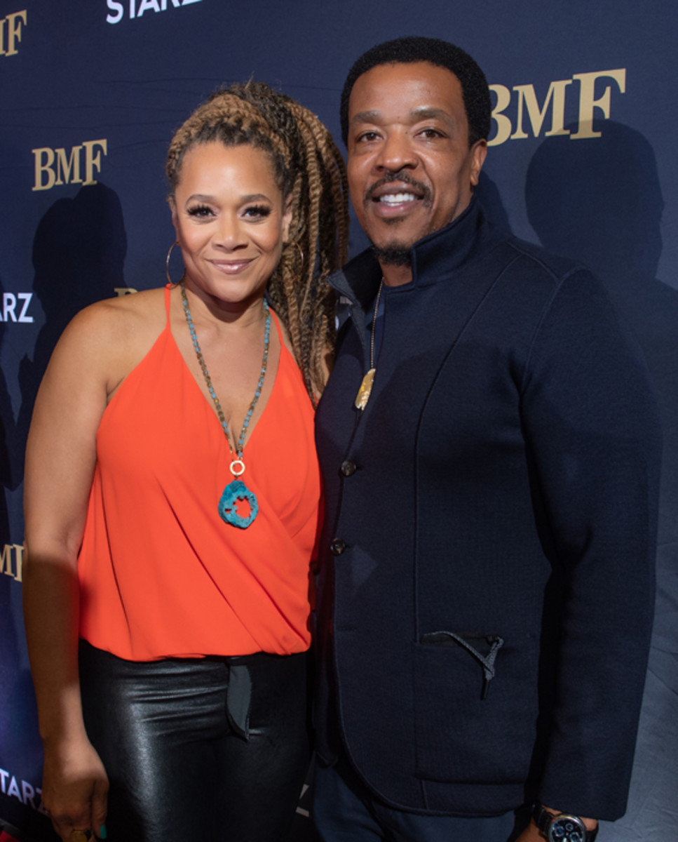 BMF starsMichole Briana White and Russell Hornsby