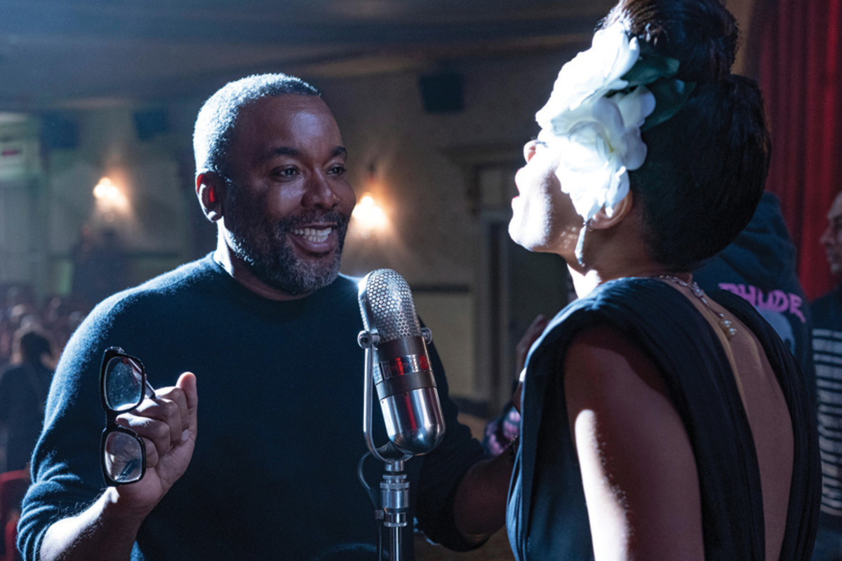 The United States vs. Billie Holiday director Lee Daniels and Andra Day (Billie Holiday) on set