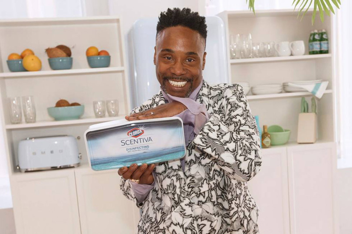 Billy Porter for Clorox Scentiva's #YASCLEAN campaign