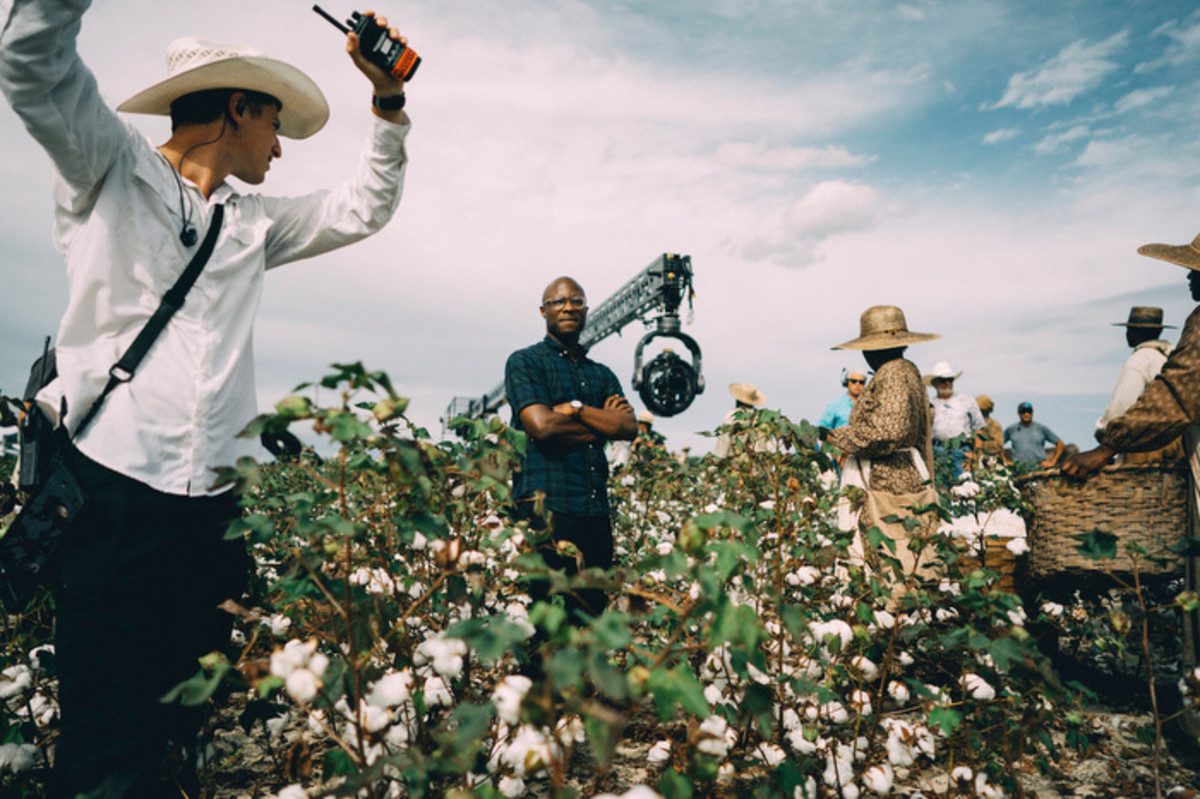Writer, director, showrunner, and executive producer Barry Jenkins on the set of The Underground Railroad