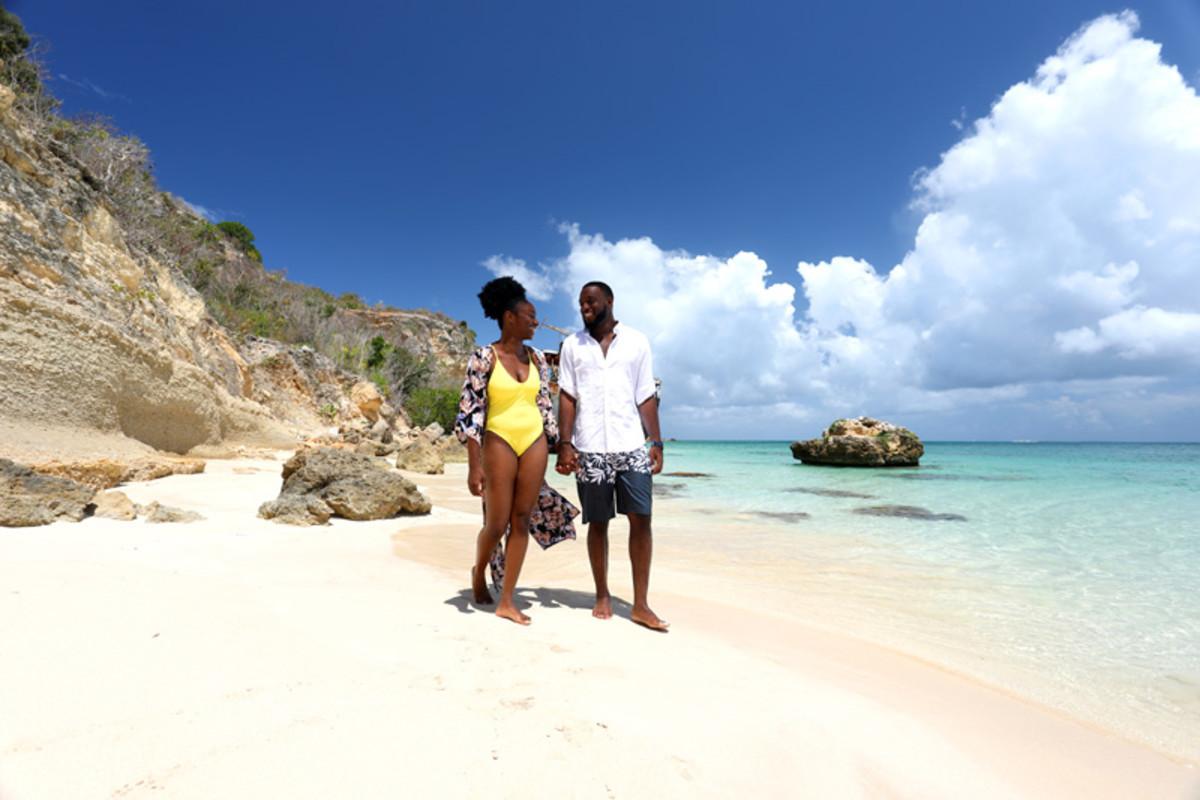 Walk on a beach in Anguilla