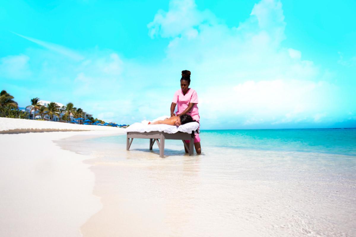 Beach massage in Anguilla
