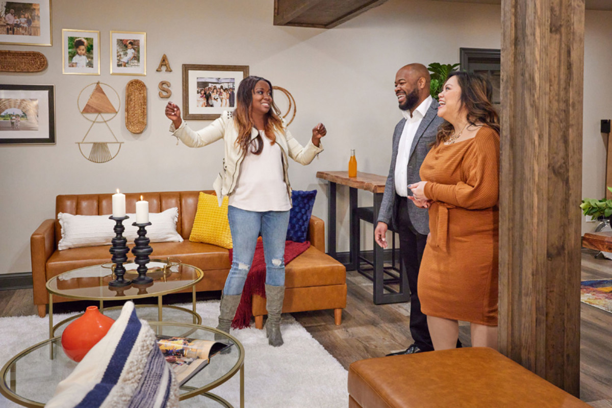 Tiffany Brooks reveals a home renovation and design to homeowners on HGTV'S $50K Three Ways.
