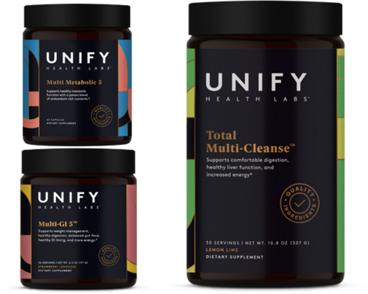 Unify Health Labs Multi Metabolic 5, Multi-GI 5, and Total Multi-Cleanse