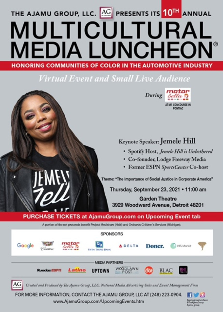 Flyer for the Multicultural Media Luncheon