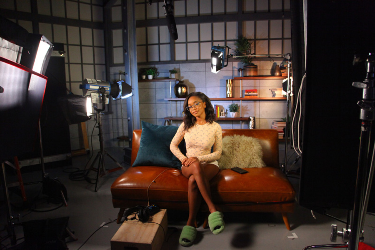 Marsai Martin films her new In The Know series Money With Marsai Martin in New York City.