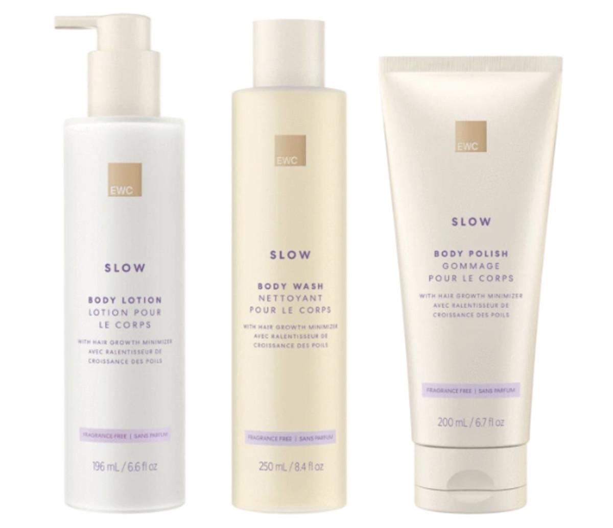 European Wax Center Slow Body Lotion, Body Wash, and Body Polish