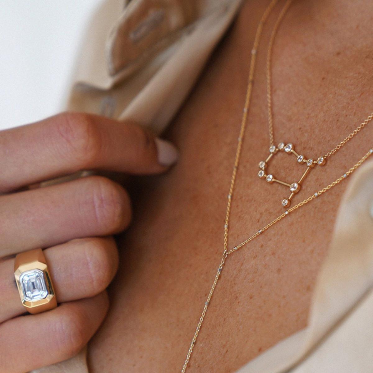 Logan Hollowell Gemini Constellation Necklace