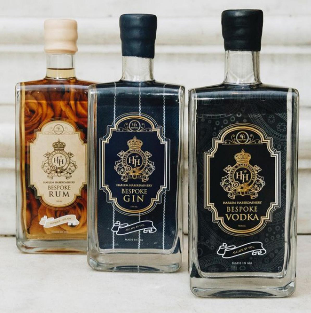 HH Bespoke Spirits rum, gin, and vodka