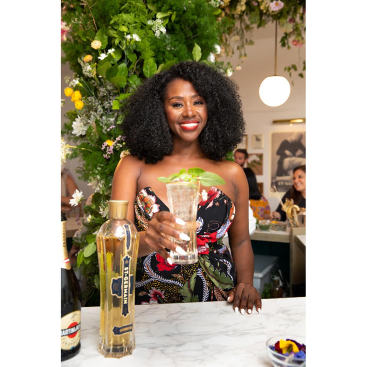 St-Germain national brand ambassador Earlecia Richelle created four cocktails for the Fleuriste St-Germain pop-up